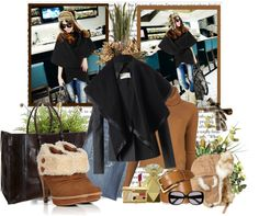 """warm street style"" by adduncan ❤ liked on Polyvore"