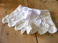 Lace crochet shorts . Handmade. White. Cotton by AmayArt on Etsy, $140.00