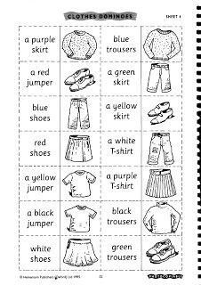 Here are some fun ideas for teaching vocabulary for clothes. 1. Paper dolls  2. bingo: This website has a worksheet and game generator. ...