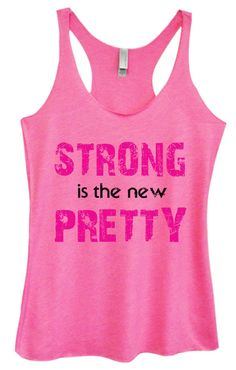 Womens Tri-Blend Tank Top - Strong Is The New Pretty