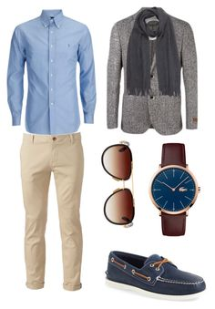 """"" by sarah-feiro on Polyvore featuring Chor, Corneliani, Sperry, Lacoste, Dita, BOSS Green, men's fashion and menswear"