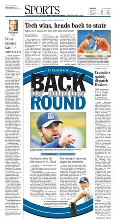 News Design: St. Cloud Times' May 29, 2013 sports cover