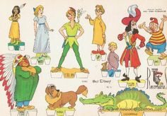 Coleccionismo Recortables: PERSONAJES * BLANCANIEVES * BAMBI * LA CENICIENTA * PETER PAN * PERSONAJES. 6 Recortables. - Foto 2 - 37316968