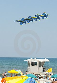 Pensacola Beach! Watching the Blue Angels fly over my house!