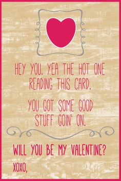 Printable Cute & Funny Valentine's Day Card For by LilygramDesigns Cute Couple Quotes, Couples Quotes For Him, Like You Quotes, Men Quotes Funny, Valentine's Day Quotes, Quote Of The Day, Hug Quotes, Quotes Kids, My Funny Valentine