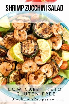 A simple keto salad of shrimp zucchini in a lemon dressing is an easy recipe to make. A simple keto salad of shrimp zucchini in a lemon dressing is an easy recipe to make. Shrimp Recipes, Salad Recipes, Keto Recipes, Cooking Recipes, Healthy Recipes, Bariatric Recipes, Healthy Salads, Lunch Recipes, Summer Recipes