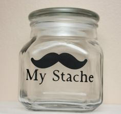 My Stache - Mustache Money Jar  @Kellie Fredette