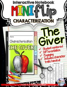 The Giver: Interactive Notebook Characterization Mini Flip ($)