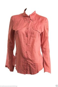 GUCCI COW GIRL CUT AND SEAMS LONG UNIQUE SLEEVES COLLARED BUTTON DOWN ROSE 44 #Gucci #ButtonDownShirt #Casual $275