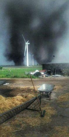 Double Tornado - Germany #extremeweather#doubletornado#doppeltorado#germany