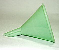 Jadeite Glass Funnel.