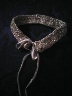 Crochet neckband made by https://www.facebook.com/Una-idea-al-giorno-745216552187716/ *** Le Maddine & Maddy https://www.facebook.com/groups/531953423561246/ *** #madeinfacebook #lemaddine #handmade #handcrafted #instagram #instapic #instagood #picoftheday #instacool #handmade #cool #cute #jewelry #jewellery #jewels #jewel #bijoux #handmadejewelry #crochet #crochetaddict #crocheting #neckband #knit #knitting #unaideaalgiorno