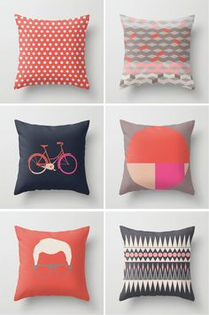 throw pillows designed with artwork by Leandro Pita