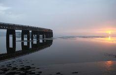 tay bridge sunset   Flickr: Intercambio de fotos