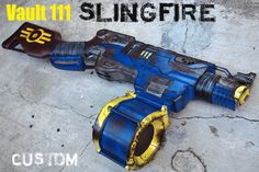"""Included in auction:1 Nerf SLINGFIRE - New and custom painted. """"Very good design of the product, good communication, and sent it to me quickly."""