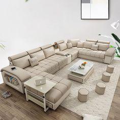 Corner Sofa Design, Sofa Bed Design, Living Room Sofa Design, Living Room Designs, Living Room Sofa Sets, Corner Sofa Set, Living Room Sectional, Living Rooms, U Shaped Sofa