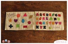 O passo a passo pra fazer este lindo livro educativo de tecido, com páginas ensinando sobre formas, números, letras, estações do ano, cores e mais.