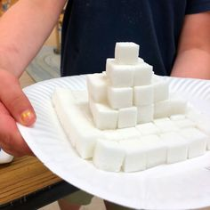 STEM PROJECT: Can you make an Egyptian pyramid out of sugar cubes? Kindergarten Units, Sugar Cubes, Stem Projects, Reggio, Ancient Egypt, Egyptian
