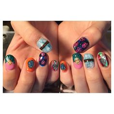 Instagramのネイル画像を自動でピンする。 Gel Nail Art, Nail Art Diy, Gel Manicure, Glitter French Manicure, French Manicure Designs, Nails Design, Fancy Nails, Trendy Nails, Hair And Nails
