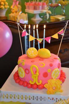 Lemonade cake idea for your next Alex's Lemonade Stand themed birthday party