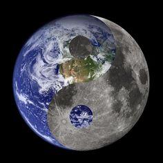 Earth Moon Yin Yang by Isaac Green