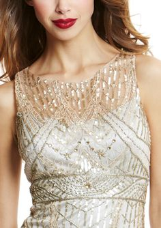 SUE WONG  Cocktail Dress with Beaded Details  $199.99