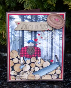 Barbaras Kreativ-Studio : Wood you be mine? - Stampin'Up! - Artisan Blog Hop