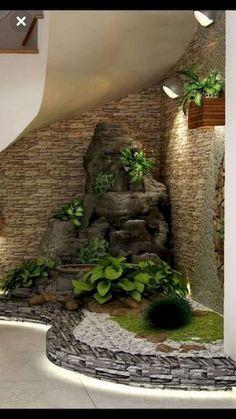 40 Awesome Indoor Garden Design Ideas That Look Beautiful - Garden Decor Home Garden Design, Interior Garden, Home Interior Design, Home And Garden, Zen Home Decor, Outdoor Plants, Outdoor Decor, Vegetable Garden Planner, Design Jardin