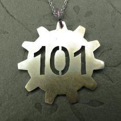 Fallout Vault Necklace. $18.00, via Etsy.