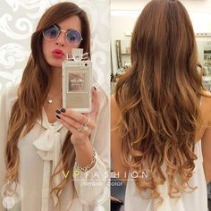 Light Brown Balayage Indian Remy Clip in Hair Extensions HSEBB - Vpfashion