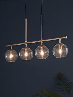 Gold Floating Glass Bubble Cloud Chandelier in Home & Garden