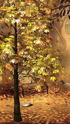 Animation 012 by Artemida23  012+artemida23+autumnpark_4qckmFvo.gif (360×640)