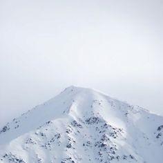Snow Capped Mountain #white