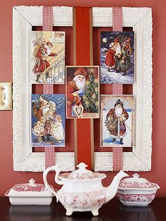 Framed Santa Card Display