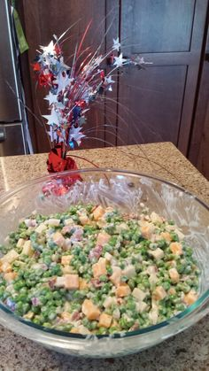 Life of a Hungry Runner: Pea Salad This is super good and easy to make. It is perfect for a BBQ side dish.