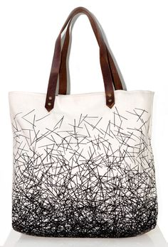 Nest Tote Bag - Natural with Brown - Nell & Mary
