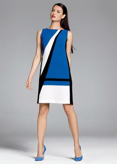 Finesse Crepe Veronica Dress | Lafayette 148 New York #lafayette148newyork #graphic #bold