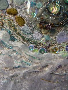 """Carol Walker, Melt (detail 1), 5.5x6.25"""", 1-2014 #fiber art #embroidery"""