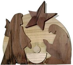 Wooden Christmas Crafts, Wood Christmas Tree, Christmas Nativity, Christmas Angels, Christmas Projects, Christmas Decorations, Wooden Nativity Sets, Wooden Puzzles, Scroll Saw Patterns