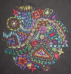 Hand embroidery by Sarah Bell Smith, via Flickr A very modern twist on hand embroidery