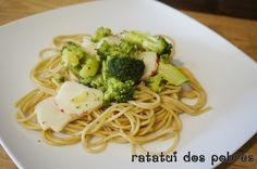 Esparguete integral c/ delícias lagosta e bróculos | ratatui dos pobres