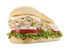 Mr. Hero's Tuna 'n Cheese!  Fresh tuna, mayo, and celery. Served with lettuce, tomato, onion, and Mr. Hero's original blend of Italian oil and spices on a fresh baked Orlando roll. Pick your cheese and sauce for more flavor!