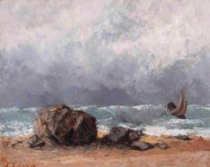 Marine scene, heavy weather | Gustave Courbet [1871]