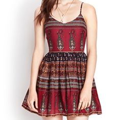Boho dress Ruched back. Invisible supper on the side. Adjustable straps Dresses