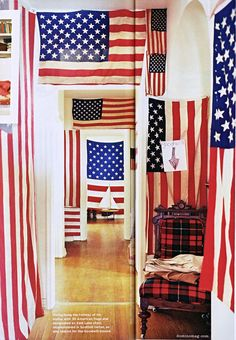 flag hall/wall from Domino Magazine