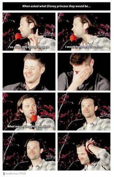 Princess Jasmine LMAO ohhh Jared you're so funny ☜(⌒▽⌒)☞ #Seacon 2015 #J2 #Jensen #Jared #Seattlecon