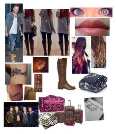 """""""touring with 1D"""" by leonatw5sos1dluver ❤ liked on Polyvore featuring Payne, Vue, U.S. Traveler and G by Guess"""