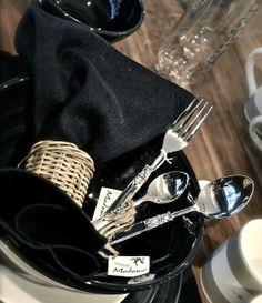 pretty silverware and linen Villa Paprika