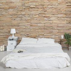 Wunderbar Steintapete   Asian Stonewall   Große Helle Steinmauer Aus Wohnlichen  Steinen   Vlies Fototapete Breit