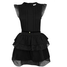 MIU MIU Jersey Frill Hem Dress ($1,005) ❤ liked on Polyvore